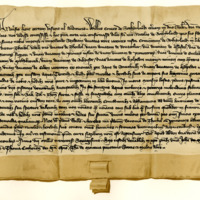 Charter by William, fifth Earl of Sutherland, to his brother, Nicholas of Sutherland, of the barony of Torboll, 13th September 1360