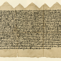 Indenture between Sir Andrew Ogilvie of Inchmartin and John Wemyss of that Ilk for the exchange of Inchmartin and Dron, 11th May 1456
