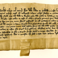 Charter by William, Abbot of Kelso, to Sir William of Douglas, of the lands of Dowglen in Eskdale, 21st December 1343