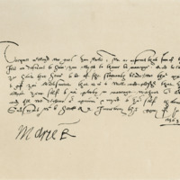 Letter by Mary, Queen of Scots, to Torquil Macleod. Inverary, 24th July 1563