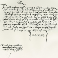 Letter by King James V to the Arbitrators in a dispute. Cupar, 29th January 1534