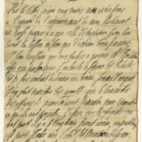 Letter by King William III to George Melville. Kensington, 20/30th March 1690