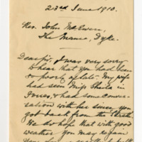 Kennedy Papers accompanying note