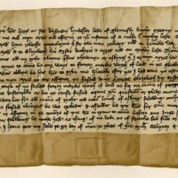 Instruments of Resignation by Sir Alexander Lindsay, Lord of Glenesk, in favour of Margaret, Countess of Mar, and her sister, Elizabeth, 12th March 1379