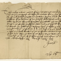 Precept by King James VI to William, Earl of Angus, in favour of Harry Stewart of Barskimming. Holyrood, 20th March 1588
