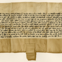 Charter by King Robert II to Margaret Stewart, Countess of Mar, of the lands that belonged to her sister, Elizabeth Stewart, 9th April 1379