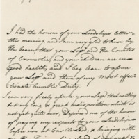 Letter by Simon, Lord Lovat, to George, third Earl of Cromarty, 3rd July 1739