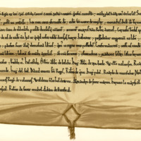 Charter by King William the Lion confirming to the Monks of Melrose their charters of the lands of Eskdale, 1180-1201