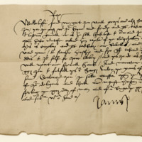 Letter by King James V to James Grant of Freuchie. Stirling, 13th May 1534