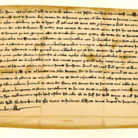 Charter by William of Monte Alto to David de Donevon, of the davach of Fernenes in the town of Cromarty, 1252-1272