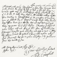 Letter by Rob Roy to the Earl of Breadalbane, 4th September 1711