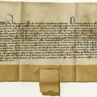 Charter by Robert, first Duke of Albany, to William de Hay of Erroll, of the barony of Colly. Falkland, 14th May 1415