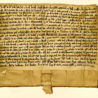 Charter by William de Bruce to Adam of Carlyle, son of Robert, of the land of Kynemund, 1194-1214