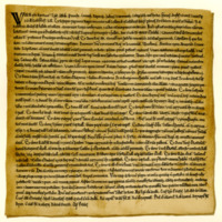 Charter by King William the Lion to the Church of St Mary of Jedburgh, confirming prior grants and privileges, c. 1165