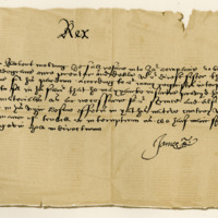 Letter by King James VI to Sir Robert Melville, in favour of Robert Waldegrave, c. 1587