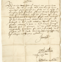 Receipt by King James VI to William, Earl of Angus, in favour of Michael Elphinstone. Holyrood, 15th March 1588