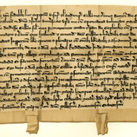 Charter by Gilbert, third Lord of Glenkerny, to his eldest son, Gilbert, of the lands of Gerbothy, 2nd February 1280