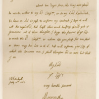 Letter by James, Duke of Monmouth, to David, Earl of Wemyss, 11th July 1663