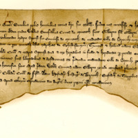 Charter by King Alexander III confirming a gift by Walter Stewart, Earl of Menteith, to Gilbert, son of Sir Gilbert of Glenkerny, of the half of Broculy, 14th August 1267