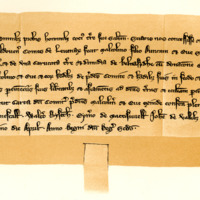 Charter by King Alexander III confirming a donation by Maldouen, Earl of Lennox, to Maldouen, son of Duncan, and Eva, sister of the Earl, 30th April 1251