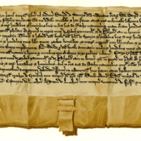 Charter by David Wemyss to his uncle, John Wemyss, of part of the Moor of Scleofgarmunth, c. 1289