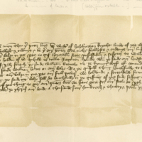 Letter of Bailiary by Sir Walter of Haliburton to his son, Robert, 21st October 1437