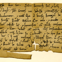Charter by King David I to Robert Bruce, of the lands of Estrahanent, c. 1124