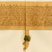 Charter by John Montgomery to William de Blaikford, of the lands of Little Bennane, 8th October 1392