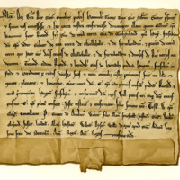 Charter by King Alexander II confirming the gift by Gilbert, Bishop of Caithness, to his brother, Richard, of the lands of Skelbo and others, 26th December 1235