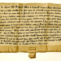 Charter by Gilbert of Umphraville, Earl of Angus, to Duncan, King's Deemster in Angus, of the lands of Petmulin, 1262-1285
