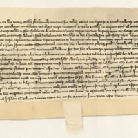 Charter by King Robert I confirming charter by Malcolm, Earl of Lennox, to John of Luss, 28th September 1308