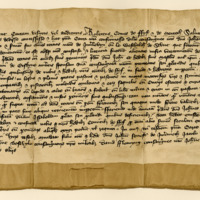 Charter by Robert Stewart, Earl of Fife and Menteith, to Sir John Wemyss, of the lands of Innerleven and Westhaugh of Scoonie, 1395
