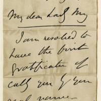 Letter by Henry, Lord Brougham, to Lady Mary Hope Johnstone