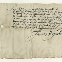 Letter by James, Earl of Morton, Regent, to David Wemyss of that Ilk, for the liberation of a Borderer in his keeping. Holyrood, 2nd February 1574