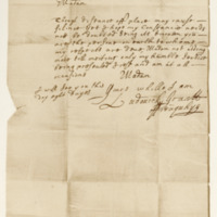 Letter by Ludovick Grant of Freuchie to Miss Janet Brodie, 16th October 1671