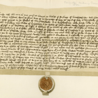 Deed of Resignation by Lucas of Stirling of his lands in Binshartie, & c., 6th May 1448