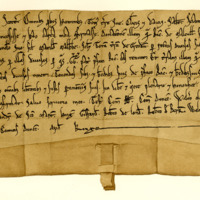 Charter by King William the Lion confirming a charter by Richard Melville to his uncle, Galfrid of Melville, of the lands of Granton and others, 1165-1189