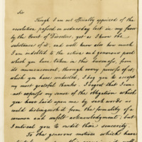 Letter by Warren Hastings to William Elphinstone, 27th July 1804