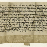 Obligation by David Scott of Buccleuch to William Douglas of Drumlanrig in reference to the lands of Quhitchester. Edinburgh, 5th November 1470