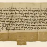 Charter by King Robert II confirming to Sir Henry of Douglas the lands of Lugton. Edinburgh, 10th October 1381