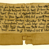 Charter by King William the Lion confirming a gift by Reginald Prat to Richard Melville, of the lands of Muiravonside, 1189-1199