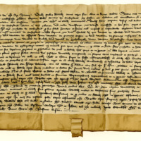 Charter by King David II confirming a charter by William, Earl of Sutherland, to his brother, Nicholas Sutherland, of the lands of Thorboll, 17th October 1362