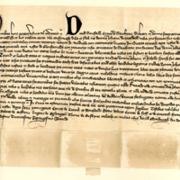 Charter by David Stewart, Earl of Strathearn, to Sir John de Maxwell, of the lands of Bardralle, 10th May 1372
