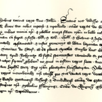 Charter by King David II to William Abernethy, of the lands of Rothiemay, 22nd November 1345
