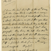 Letter by Sidney, Lord Godolphin, to William, Marquis of Annandale, 2nd June 1705