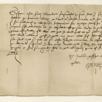Letter by George, fifth earl of Huntly, to John Grant of Freuchie. Huntly, 5th June 1573