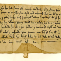 Charter by King William the Lion to Richard, son of Gregory of Melville, of the lands of Granton, in exchange for lands in Ednam, 1165-1189