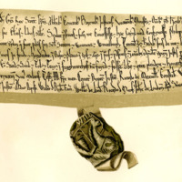 Charter by King William the Lion to Philip of Seton, of the lands of Seton, Winton, and others, 1177-1189