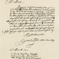 Letter by George, Viscount Tarbet, to Margaret, Countess of Wemyss, 2nd March 1700