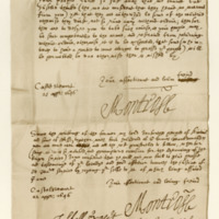 Letters (two) from James, Marquis of Montrose, to James Grant of Freuchie. Castle Stewart, 21st and 22nd April 1646